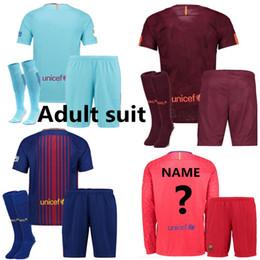 Wholesale Messi Quality Jersey - Best quality Barcelonas men soccer jersey MESSI SUAREZ DEMBELE JR A.INIESTA PIQUE Barcelonaes Alba home Bar football shirt