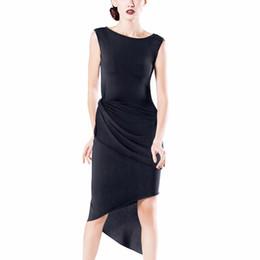 Vestido indio sin mangas online-Vestidos de baile latino sin mangas para damas Colores de Borgoña Faldas de flecos Vestidos de mujeres Chacha Indian Ballroom Stage Clothes