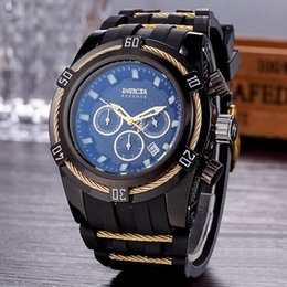 Wholesale manning materials gifts - All dials work invicta Best Halloween men birthday gift Quality 52mm Big Dials Luxury Styles Mens blue color Watches Quartz Watch Material