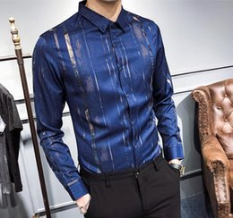 oem striée design multicolore 3d nouvelle impression manches longues mens streetware mens shirt ? partir de fabricateur