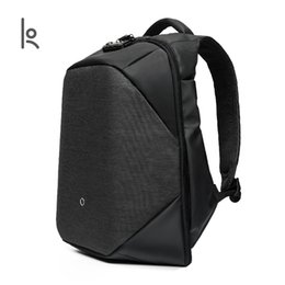 Wholesale Anti Thief Bag - Kingsons Click Anti-thief Solid Backpacks Scientific Storage Bags External USB Charging Laptop Backpack For Man Women KS3148W