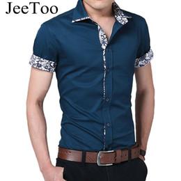 Wholesale mens import clothing - Wholesale-Male Shirt Brand Summer Mens Dress Shirts Short Sleeve Casual Shirt Men Slim Fit Camisa Design Formal Shirt Imported Clothing
