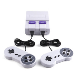 Wholesale Av Console - Drop Shipping Super Popular Super Mini SFC Game Handheld Console Games Consoles With Double Controllers AV Cable US Plug Packing Box