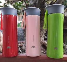 Wholesale Red Flasks - 300ml 10.5oz Stainless Steel Tumbler Thermocup Coffee Mugs 300ml Thermos Fashion Insulation Water Bottle Travel Mug Vacuum Flasks