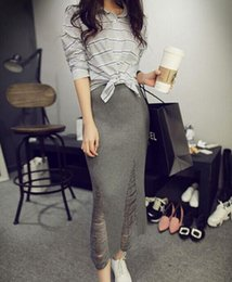 Wholesale out step - Sexy Lady Pencil Skirt Woman Bodycon One-step Slim Hollow Out Skirts Red Gray Black
