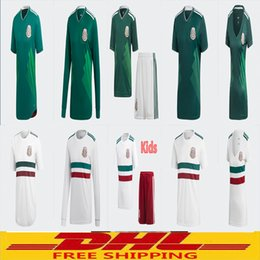 Wholesale player free - DHL Free shipping 2018 Mexico Soccer Jersey Home Away Player version fans version Long sleeved Women Kids Size can be mixed batch