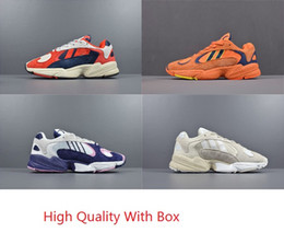 Wholesale sport rubber ball - 2018 Dragon Ball Z x YUNG-1 OG GoKu Men Women Running Shoes Orange Running Shoes Sports Sneakers Kanye 700 West With Original Box