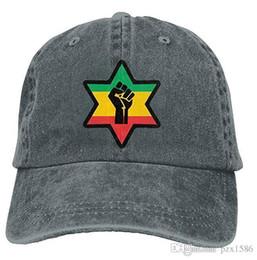 Pzx @ Boné de beisebol para Homens e Mulheres, Africano Poder Black Roots Reggae etíope Algodão Ajustável Denim Cap Hat Multi-cor opcional de