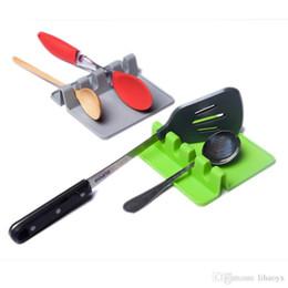 Spatel-kochgerät online-Küche, die Werkzeuge kocht Küche-Silikon-Löffel-Rest-Gerät-Spachtel-Halter-hitzebeständige freie Farbe c559 des Verschiffens 2