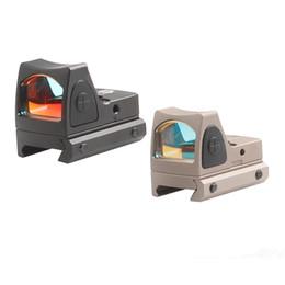 Punto rojo vista para la caza online-Trijicon RMR Mini Red Dot Sight Collimator Reflex Sight Scope fit 20mm Carril del tejedor para pistola Airsoft Rifle de caza