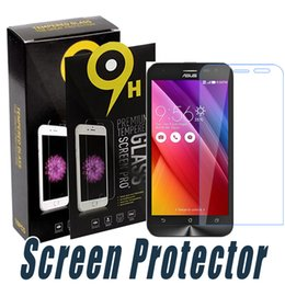 Wholesale Anti Shock Screen Protector - Anti Shock Tempered Glass Screen Protector 9H 2.5D Clear Film For ASUS 3Max Zenfone3 laser Deluxe 2 Laser Zenfone Go Padfone X Max