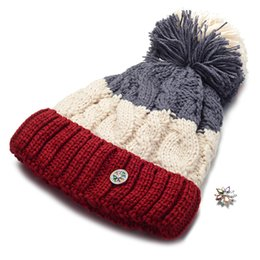 5bf9b56e7eb8f 10pcs lot Ginger Snap Hat fit 18mm Button Beanie Winter Kniting Hat With  Pom Pom Unisex Men Womens Skullies Beanies NN-702 10 womens beanie pom  promotion