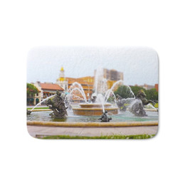 Portes de campagne en Ligne-JC Nichols Horse Fountain Tapis de bain Tilt Shift de Kansas City Country Club Plaza Tapis de Bienvenue