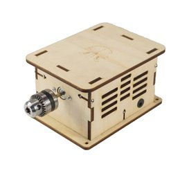 Wholesale Dc Drill - DIY Mini Multi-function Woodworking Bench Grinder Polisher Drilling Machine 12-24V DC