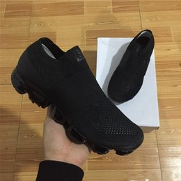 Wholesale Sneakers Belts - With box New Vapormax moc black belt Mens Running Shoes For Men Sneakers Women Fashion Athletic Sport ShoeWalking Outdoor Shoe