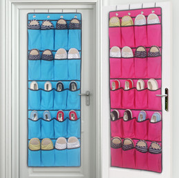 support de stockage en métal Promotion Rangement pour chaussures Meilleures ventes 20 pochettes en tissu non tissé au-dessus de la porte Range-chaussures Économiseur d'espace rack de rangement suspendu