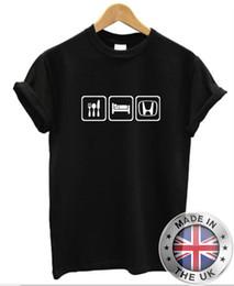 Honda rennwagen online-Essen Schlaf HONDA T-Shirt Herren Damen Auto JDM Racing