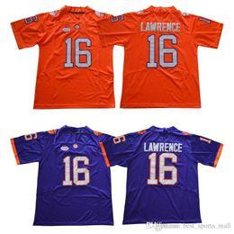 Men Clemson 16 Trevor Lawrence 4 Deshaun Watson 7 2 Kelly Bryant 13 Hunter  Renfrow Purple White Orange Stitched Jerseys bbada3871