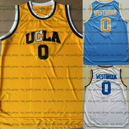 Wholesale Ucla Bruins - Men's UCLA Bruins #0 Russell Westbrook College Basketball Jerseys Yellow White Blue Navy Youth Kids Russell Westbrook Jersey