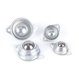 Wholesale Ball Roller Bearing - 2pcs lot Sliver Ball Metal Transfer Bearing Unit Conveyor Roller Wheels Ball For Luggage Suitcases Accessories