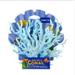 2019 pesce giallo del serbatoio Acquario Resina artificiale Corallo Acquario Acquario Serbatoio di corallo Decorazione corallo Man made Ornamento di corallo 1pz