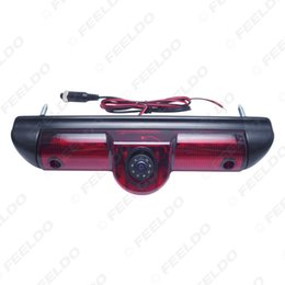 câmera para peugeot Desconto FEELDO Car Reversa Luz de Freio Câmera de Backup Câmera de Visão Traseira HD Para Fait Ducato / Boxer Peugeot / Citroen Jumper # 5369