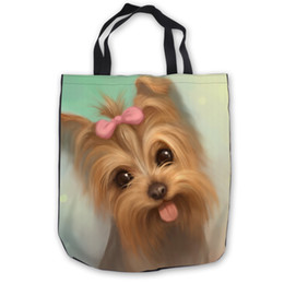 0f977fbae84c Custom Canvas yorkshire terrier Tote Shoulder Shopping Bag Casual Beach  HandBag Daily Use Foldable Canvas  180713-1-02