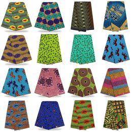 Wholesale Black Quilts - Ghanaian style kitenge Africa Batik Print cloth 6 yards Headwrap Quilt Skirt kente cloth fabrics