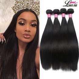 Wholesale Human Hair Bundles 24 Inch - Brazilian straight Virgin Hair 3 Bundles 8A Brazilian virgin Hair straight Unprocessed Peruvian Malaysian Body virgin Human hair Extensions