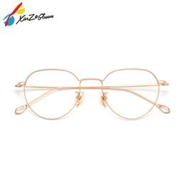 fde64cab48 XINZE Pure Titanium Glasses Frame Alta calidad Retro Eyeglasses Optical  Prescription Men Moda mujer con marcos de miopía