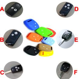 Wholesale Key For Honda Civic - Keyless Entry Remote Key Fob Skin Case Holder Car Key Cover Ring for Honda Accord Civic CRV City Odyssey Crosstour Key Case Auto