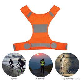chaleco de engranajes Rebajas Chaleco reflectante para correr al aire libre Chaleco ciclismo Ciclismo Chaleco salvavidas de seguridad ligera Equipo deportivo para mujeres Hombres Trotar Caminar