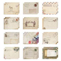 Wholesale Envelope Window - 12 pcs set Vintage Small Mini Kraft Paper Window Envelopes wedding invitation envelope gift envelope