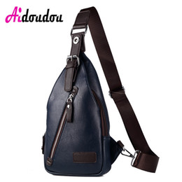 Wholesale Travel Sling Leather - New Men PU Leather Sling Chest Bag Casual Male Travel Cross Body Messenger Shoulder Chest Pack For Teenager Bag
