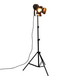 iluminação de pé livre lâmpadas Desconto Industrial Bar Criativo Estúdio Tripé Retro Preto Luzes Da Lâmpada de Assoalho Sala de Luz Stand OY16F01 Frete grátis