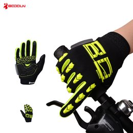 Wholesale Gloves For Bicycle - Boodun Winter Cycling Gloves Touch Screen GEL Bike Gloves Sport Shockproof MTB Road Full Finger Bicycle Glove For Men Women