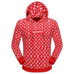 Sudaderas gratis online-libre 2018.2019 marca para hombre sudaderas con capucha sudaderas con letras de marca diseñador de lujo con capucha para los hombres de manga larga jersey abrigo ropa