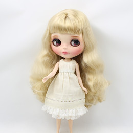 Wholesale Wholesale Factory Dresses - Fortune Days Blyth doll Cream Sleeveless dress and Cropped trousers for dress up for the doll the fresh dressing Factory Blyth
