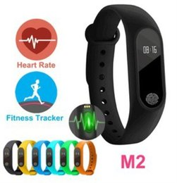 waterproof tracker bracelet 2018 - M2 Smart Bracelet Heart Rate Monitor bluetooth Smartband Health Fitness Tracker Smart Band Wristband for Android iOS