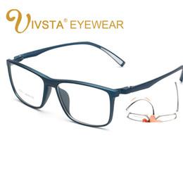 leggere i bicchieri prescrizione Sconti Occhiali da vista da uomo IVSTA Fashion grandi occhiali da vista ottici quadrati grandi ingranditi con montatura in miopia