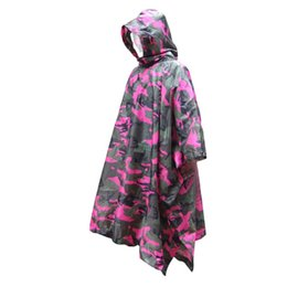 hunting clothes wholesalers Coupons - Hunting clothes polyester taffeta adult poncho jungle camouflage camouflage hiking mountaineering raincoat electric car riding p