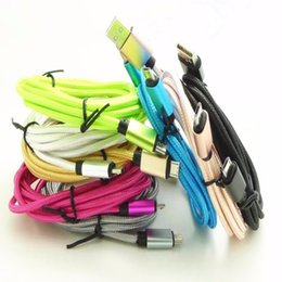 Wholesale Cable Fabric Iphone Charger - 1M 2M 3M Braided Fabric Nylon usb Data Sync Charger Cable for iphone Samsung Android