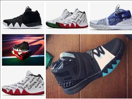 Wholesale Athletic Shoes History - High Quality Athletic KYRIE 4 BHM Black History Month Sneakers Multi-Color Black Red Green Gold Basketball Shoes
