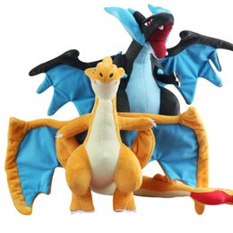 Wholesale Mega Yellow - Pocket Monster plush toy Charizard How to train your dragon plush toy Mega monster Yellow Blue Dragon Collection doll Toy b1573