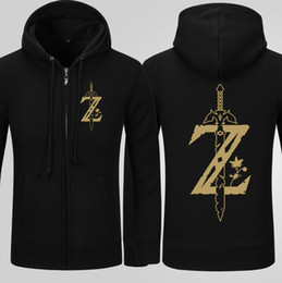 leyenda zelda sudadera con capucha Rebajas La sudadera con capucha de Legend Of Zelda Sudadera con capucha de Breath Of The Wild Zip Up