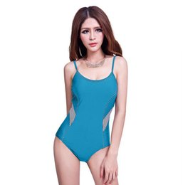 bd5c3b0a5a Swim One Piece Suit Sports Lady Athletics Swimsuit Europe and America Hot  Spring Swimwear Summer Holiday Bathing Suit