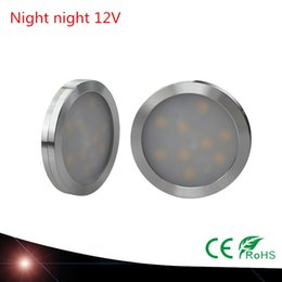 Wholesale ceiling light car - 4X ultra-thin LED cabinet wardrobe light bar lamp Cabinet Stairs Wardrobe led car light Ceiling lamp night 12V