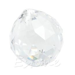 Wholesale Prism Crystal Suncatcher - YAM Clear Crystal Lamp Ball Hanging Prism Suncatcher Wedding Decor 20mm 30mm 40mm