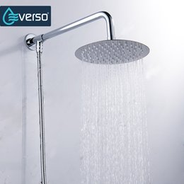 Wholesale Rain Shower 12 - Everso 12 10 8 6 4 inch Stainless Steel Ultra-thin Waterfall Shower heads Rainfall Shower Head Rain Square Round