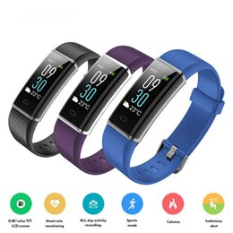 Wholesale pet red - ID130 Plus Color HR Smart Bracelet ID130C Color Screen Pedometer Heart Rate Monitor Sleep Tracker Fitness Smart band Wristband